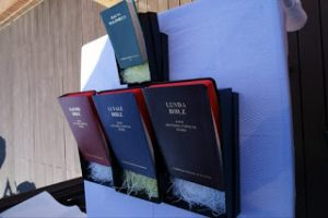 Translated Catholic Bibles in Kaonde, Lunda and Luvale on display in Seoul, South Korea